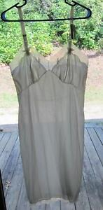 NWT-Vintage-Komar-WHITE-Nylon-amp-Chiffon-Sheer-Full-Dress-Slip-Size-36