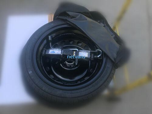 KIT roue de secours galette 15/'/' pour VW UP AVEC CRIC CLE ET sac 57x14cm