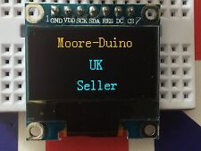 "Yellow & Blue SPI 128X64 OLED LCD LED Display Module For Arduino 0.96"" Serial UK"
