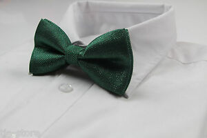 MENS-GREEN-AND-SILVER-PATTERN-BOW-TIE-PRE-TIED-MEN-039-S-BOWTIE-WEDDING-FORMAL-TIES