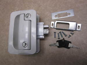 RV Entry Door Lock Handle Knob w/ deadbolt Camper Travel Trailer FIC ...