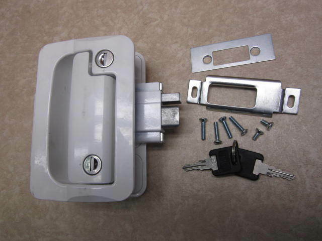 Fastec Fic Black Rv Door Lock Deadbolt Part Number 44610 Ebay