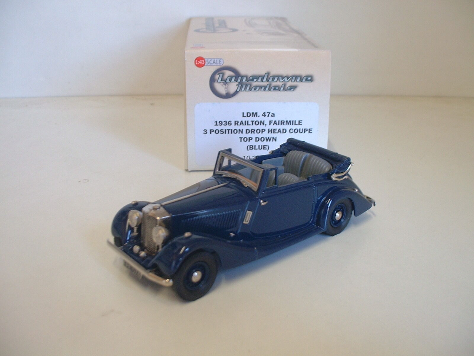 Railton Fairmile 3 position drop head coupe top down 1936 bluee (1 43, Lansdowne)