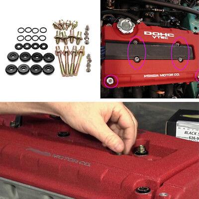 X AUTOHAUX Low Profile Engine Valve Cover Washer Bolt Kit Purple for Honda B-Series B16A2 B16A3 B17A1 B18C1 B18C5