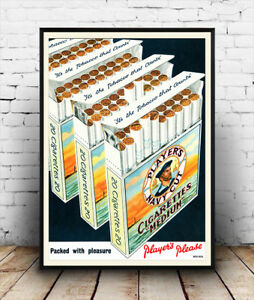 Players-Navy-Cut-Vintage-cigarette-advertising-poster-reproduction