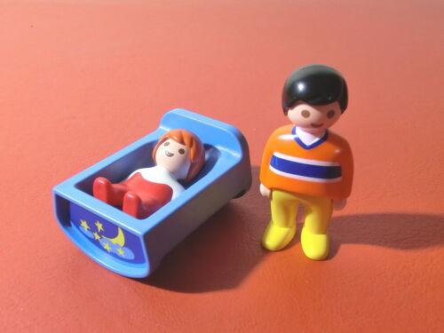 Playmobil 1*2*3 - 6730 Vater mit Baby in der Wiege