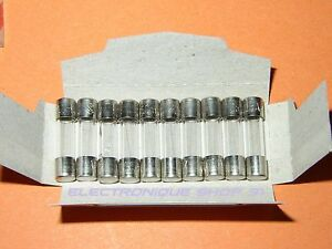 Lot de 10 fusibles 250 mA Rapides 5x20 mm CEHESS (en boîte de 10)