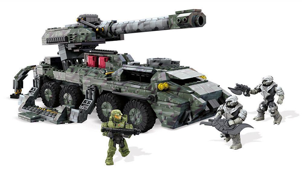 Neue mega - bloks halo - kodiak belagerung kanone tank kinder bebaubare spielzeug kit setzen