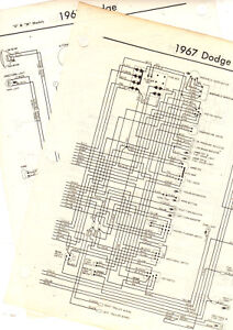 """1968 DODGE TRUCK """"A"""" MODELS 68 WIRING GUIDE CHART DIAGRAM ..."""