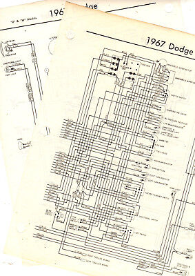 "1968 DODGE TRUCK ""A"" MODELS 68 WIRING GUIDE CHART DIAGRAM ..."