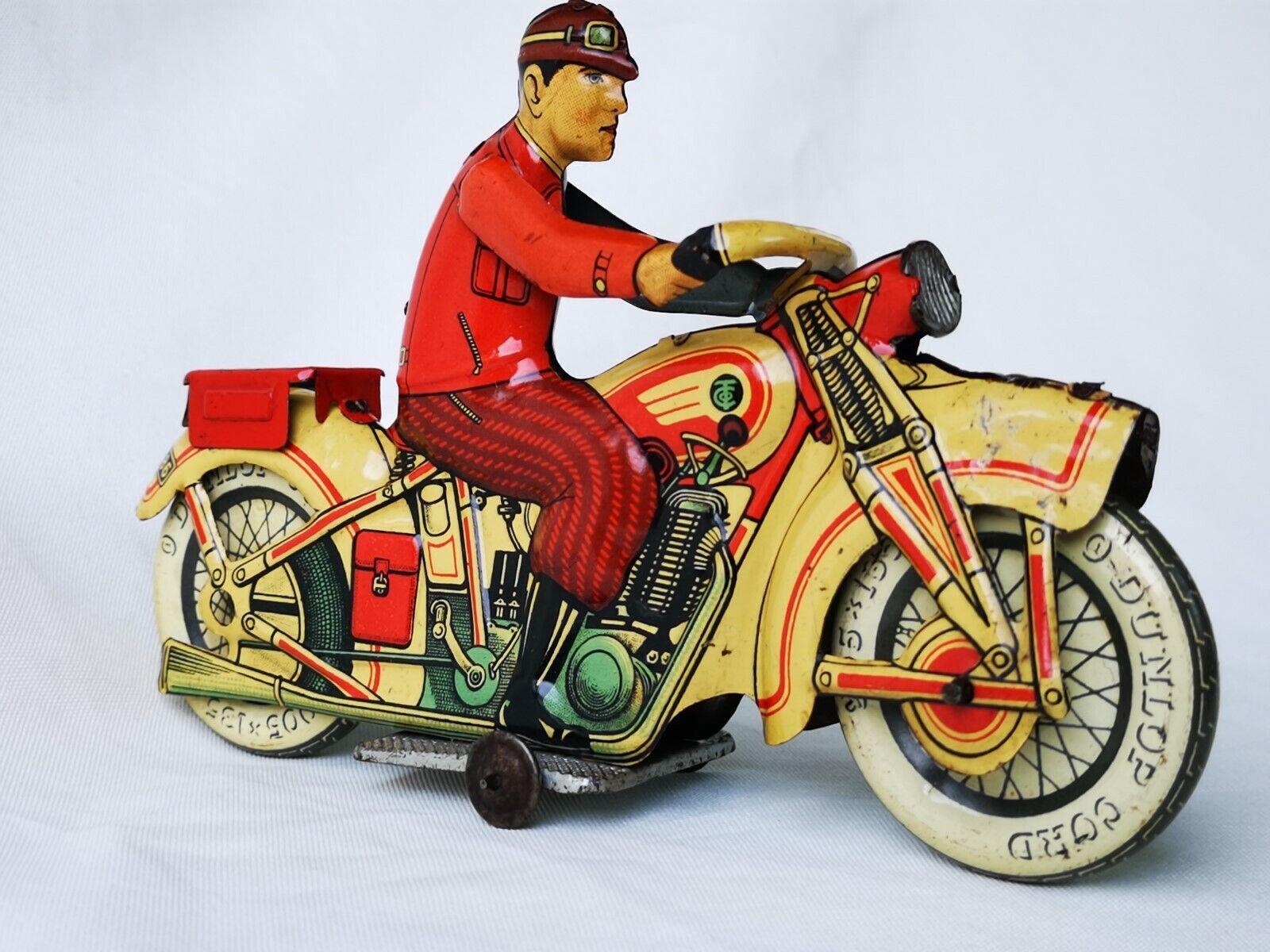 Tippco T586 Motorcycle Tin Toy - Motorrad Blech Motor Rare   Selten
