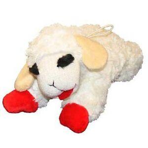 "MultiPet LAMB CHOP Plush Multi Squeaker Dog Toy 24"" Jumbo"