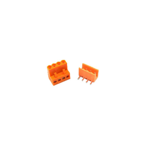 3Set Orange 3.96mm 4P HT3.96 Right-Angle Pluggable Screw Terminal Connector