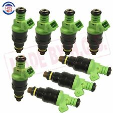 Set 8 0280150558 42lbs Green Top Racing Fuel Injector 440CC EV1 Turbo 42 lb/hr