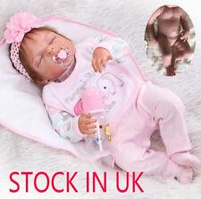 "23"" Full Body Silicone Reborn Dolls Lifelike Baby Girl Newborn Doll Gifts"