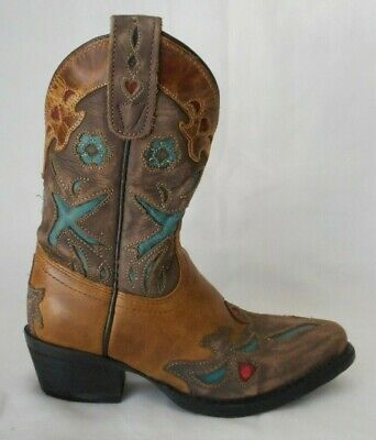 Dan Post Boots Majesty Dress   Western Brown Girls Toddler//Little Kid Size