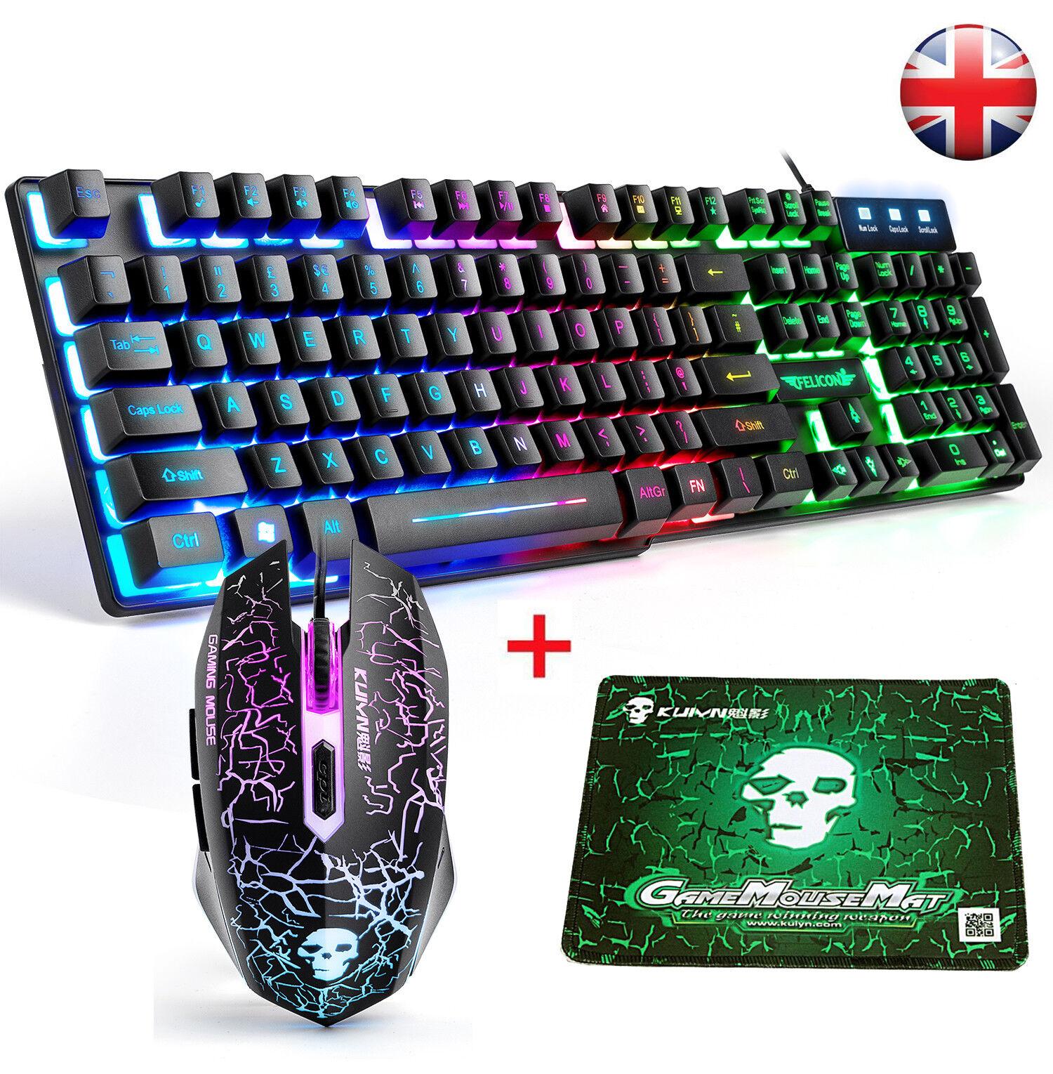 Vpro V100 Gaming Backlit Keyboard And Mouse Set Black Uk Layout For Sale Online Ebay
