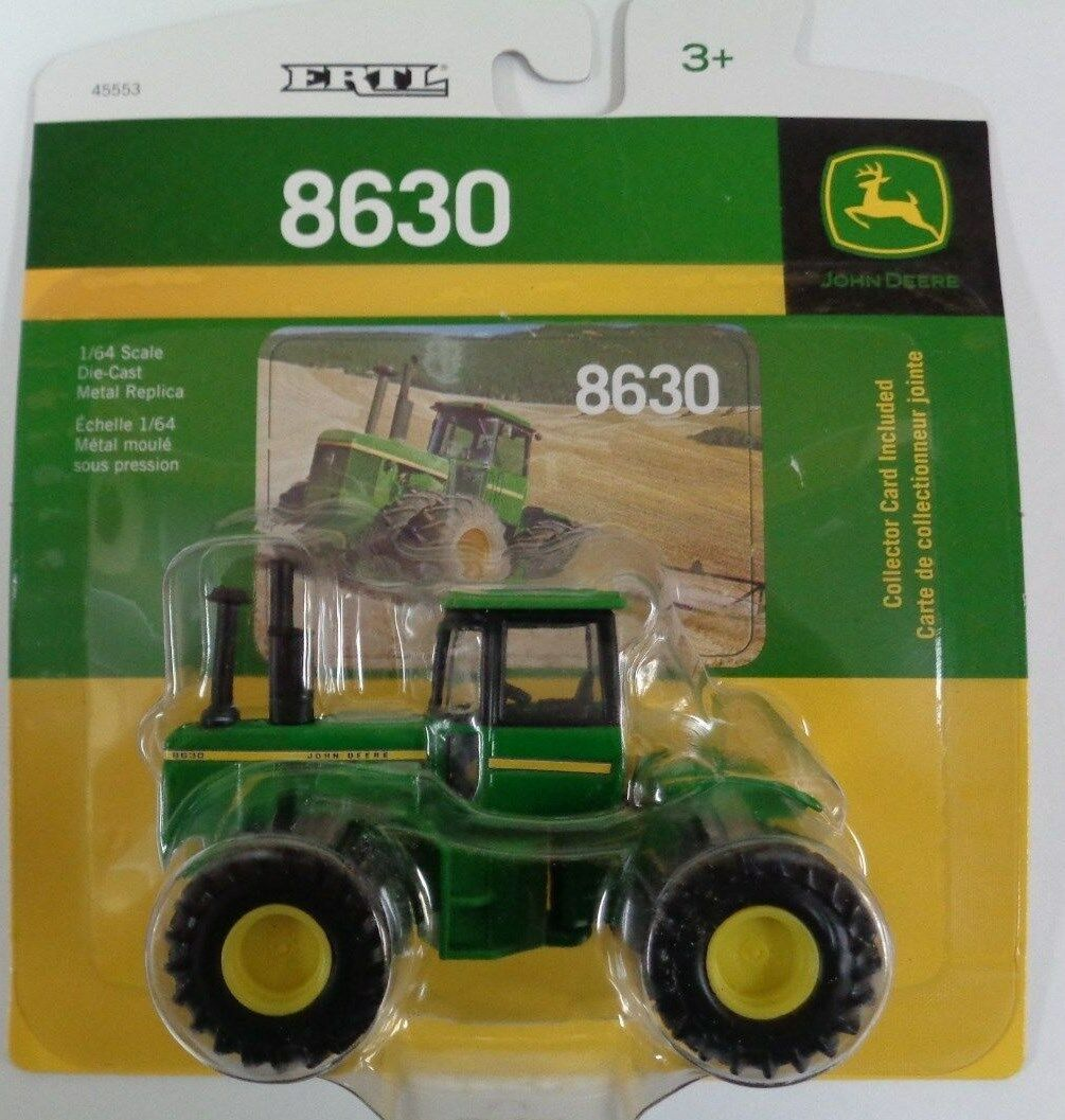 NEW John Deere 8630 Tractor with Duals, Collector Card Included, 1 64 (LP64446)