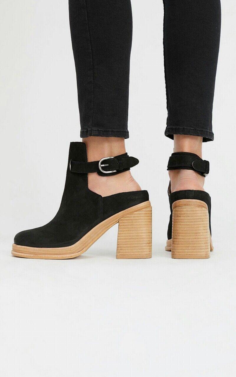 negozio di vendita outlet Free People People People Holland Heel scarpe avvioie Dimensione 10 nero Leather  248  qualità autentica