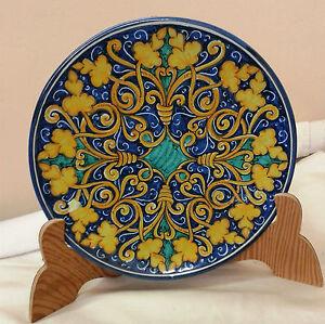 Piatto d cm 30 decorato a mano in ceramica di caltagirone - Piatti di frutta decorati ...