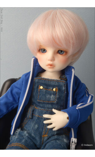 1//6 BJD overalls Dear Doll Size Blue Mayya Washed Out Style Overalls Pants