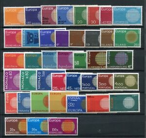 EUROPA CEPT 1970 MNH COMPLETE YEAR 41 Stamps