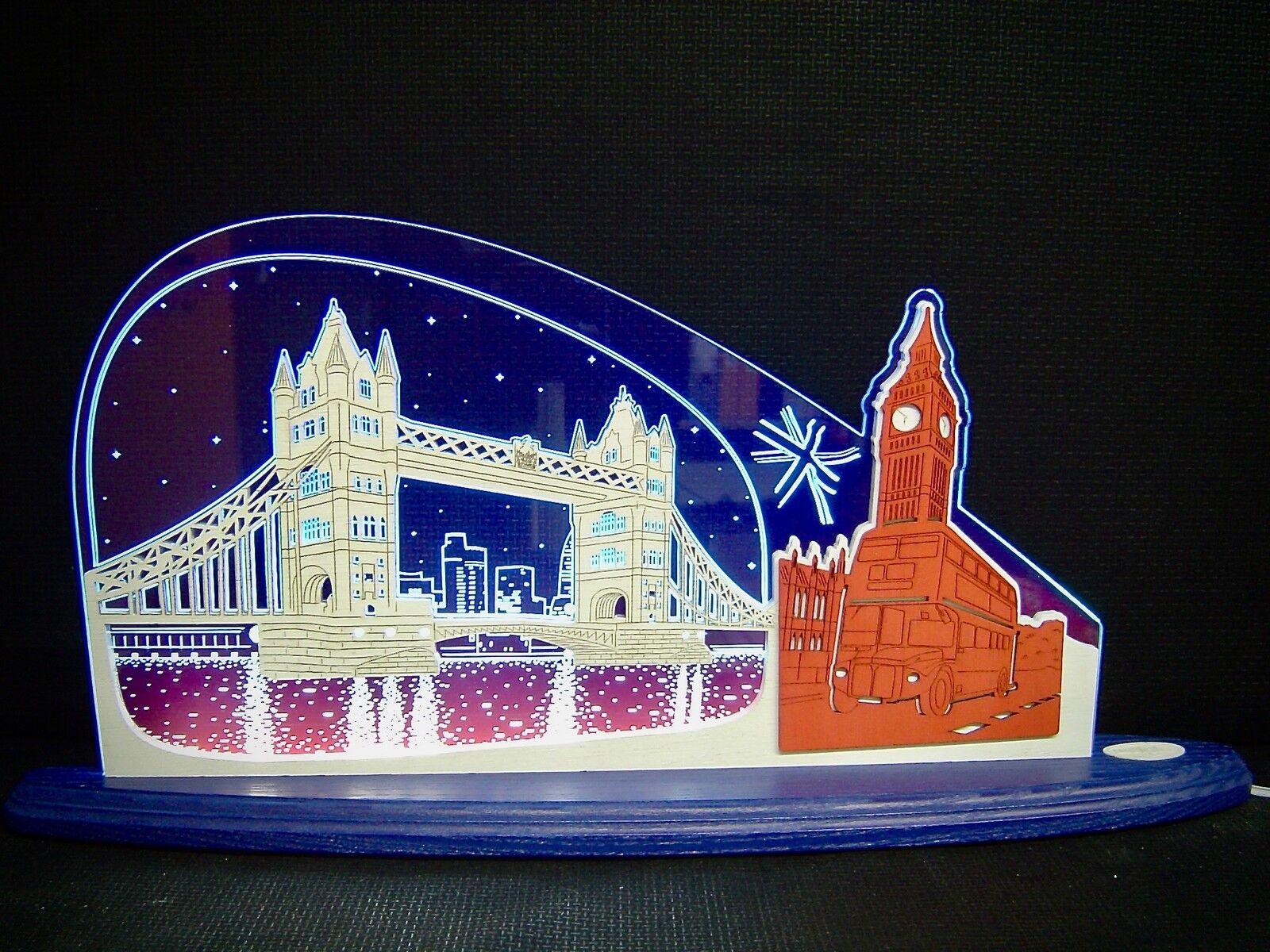 3d Lumières LED Arc plexiglas schwibbogen avec bois London Big Ben 47x22 cm 10697