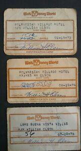 Vintage-70-039-s-Resort-Hotel-Guest-Identification-Cards-Walt-Disney-World-Assorted