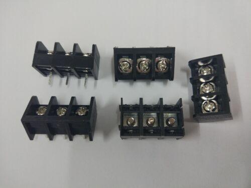 12 Pcs Noir 3 Broches 8.25 mm Vis Bornier Connecteur Barrière Type DC39B