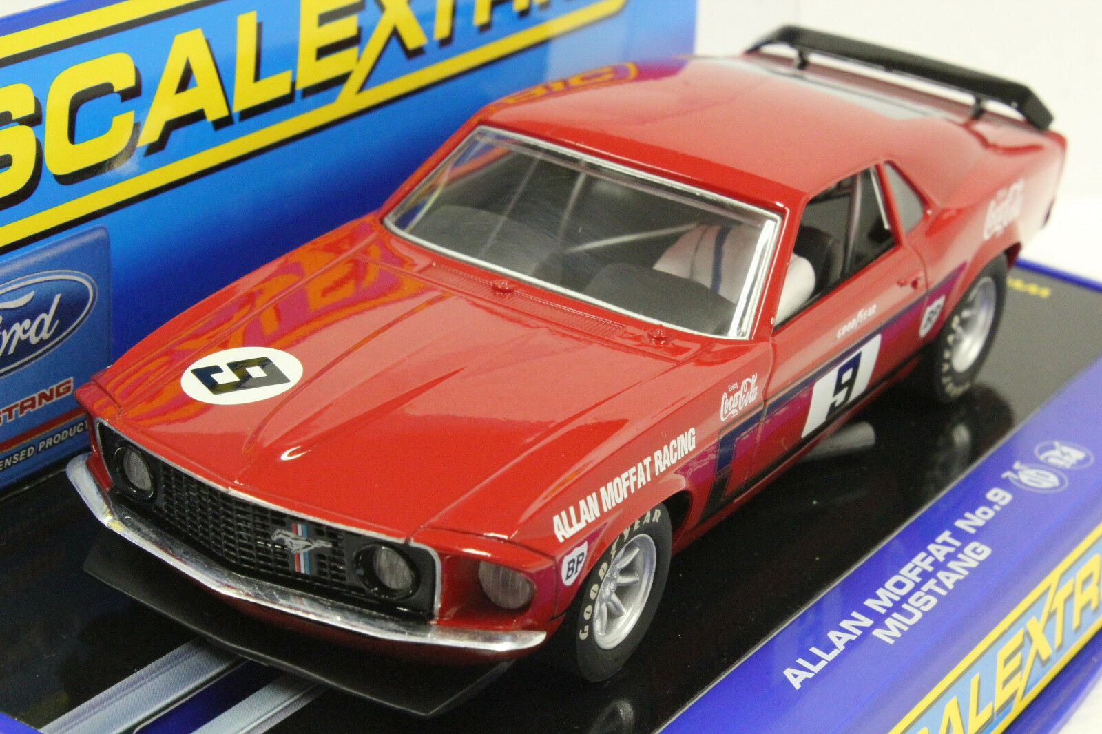 Scalextric C2775 69 Mustang Coca Cola Nueva Edición Limitada 1/32 Slot Car-RARE -
