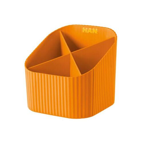 1 Stück HAN 17230-51 Stifteköcher 4 Fächer orange