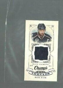 2008-09-Upper-Deck-Champ-039-s-Mini-Threads-CTRN-Rick-Nash-ref-78245