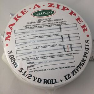 Make-A-Zipper-White-4-5-Yards-Roll-162-034-12-Zipper-Pulls
