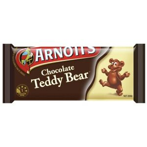 Arnott's Chocolate Coated Teddy Bear Biscuits 200g