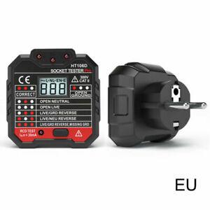 Socket-Outlet-Tester-Circuit-Polarity-Voltage-Wall-Plug-Breaker-Finder-RCD-Test