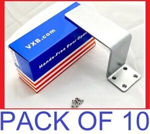 Pack-of-10-Heavy-Duty-Hands-Free-Door-Opener-LOT-Hardware-STEEL-Arm-Pull-Handle