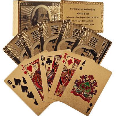 Trademark Poker 24k Gold Playing Cards - Bridge Size - Regular Index