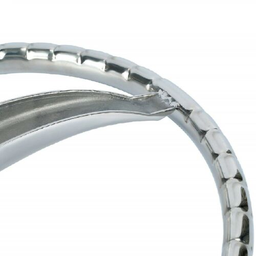 """NEW Polished Stainless Boat Steering Wheel 3 Spoke 13-1//2/"""" Dia with 5//8/"""" 18 Nut"""