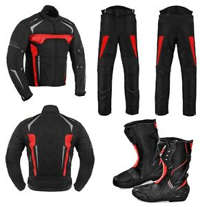 Motorbike-Riding-Clothing-Cordura-Suit-Motorcycle-Leather-Boot-Waterproof-Armors