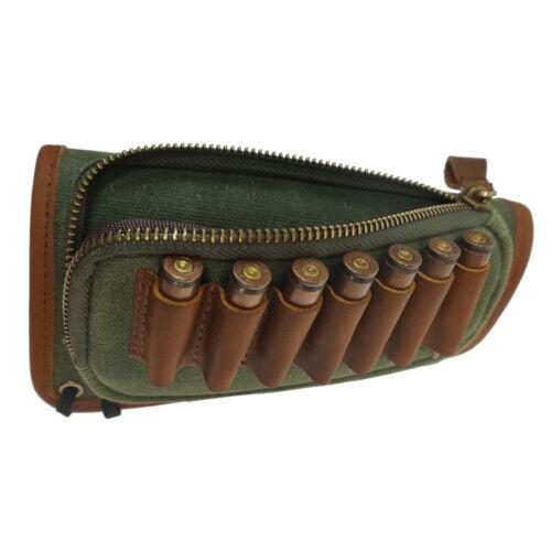 Rifle Ammo Cartridge Buttstock Shells Holder Shotgun Cheek Rest Padded Pouch