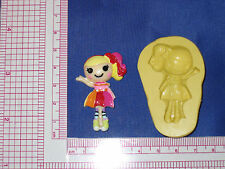 LalaLoopsy Silicone Push Mold Resin Clay Candy Food Bookscraping A488