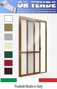 Zanzariera scorrevole su misura guida inferiore calpestabile per porta finestra ebay - Guida per porta scorrevole ...