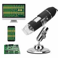 1600x 8 Led Digital Microscope Camera Handheld Usb Magnification Endoscope Black