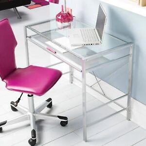 Image Is Loading Computer Office Desk Gl Top Home Workstation Laptop