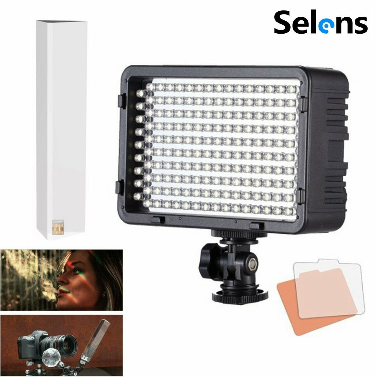 168 LED Continuous Light Lamp + Crystal Mitsubishi Column Ball for Photography