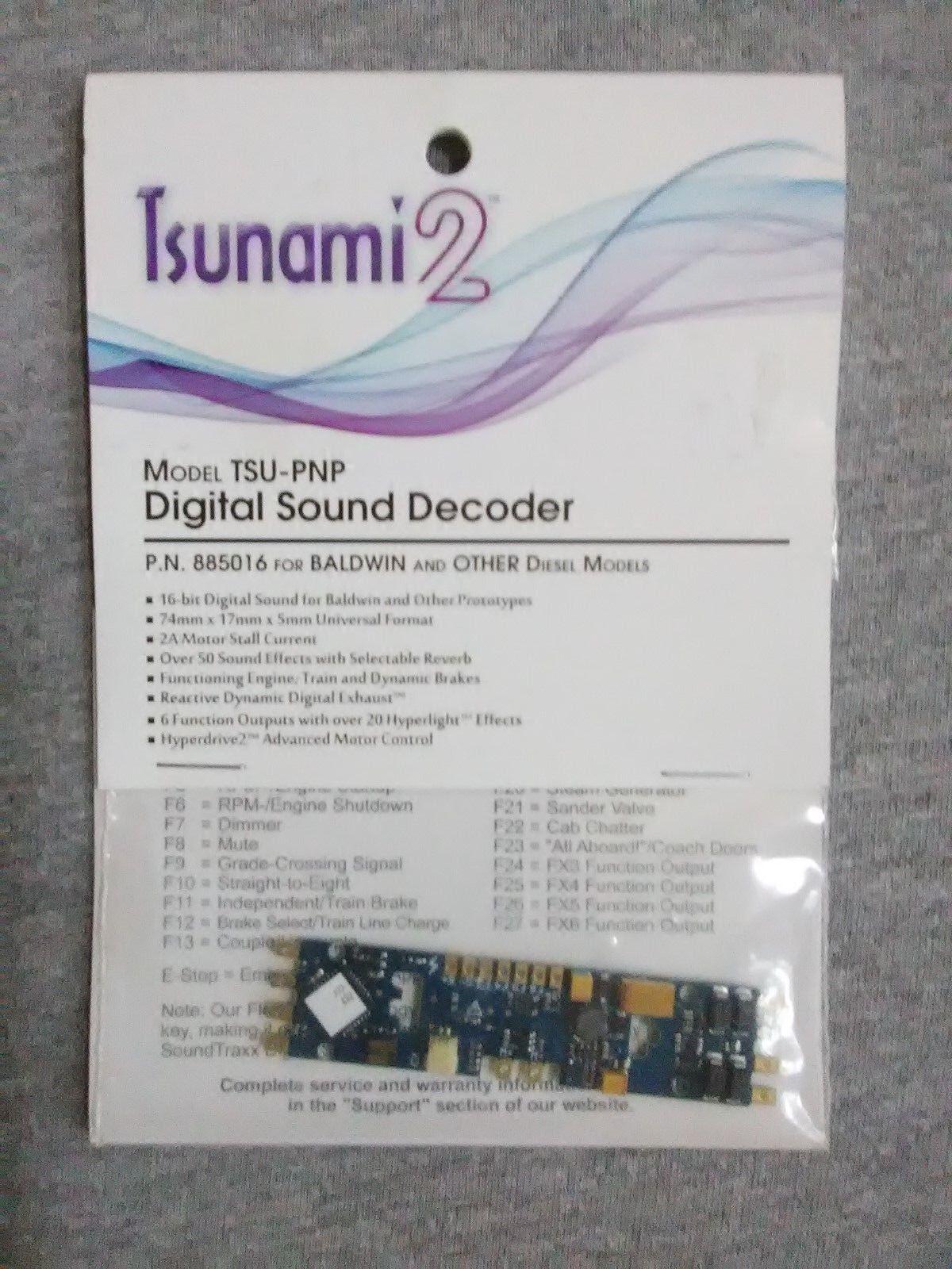 Tsunami 2 TSU-PNP Digital Sound Decoder P.N. 885016  TS