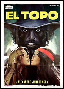 EL TOPO MANIFESTO FILM ALEJANDRO JODOROWSKY 1971 THE GOPHER RARE MOVIE POSTER 4F