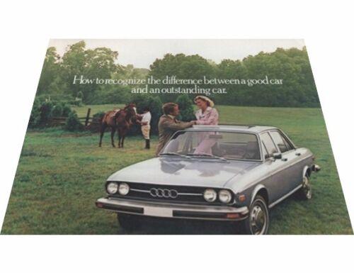1976 Audi 100LS 100 LS Sedan Original Car Sales Brochure Folder
