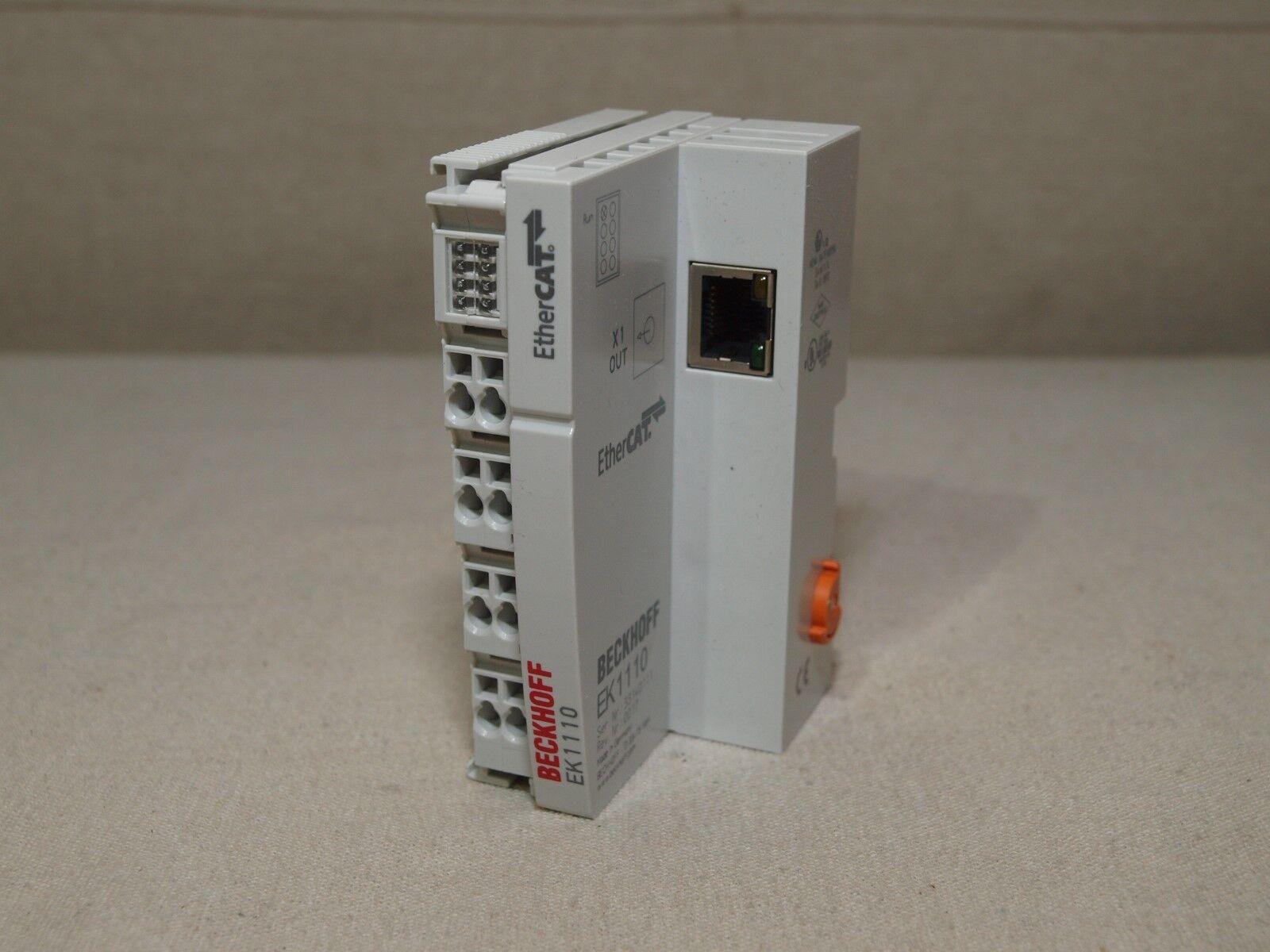 PLCs & HMIs BECKHOFF EK1110 ETHERCAT TERMINAL BLOCK PLC Processors