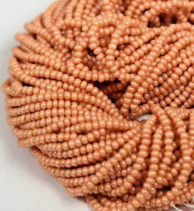 Czech-Glass-Seed-Beads-Size-11-0-034-TERRA-OPAQUE-SOFT-ROSE-034-Hank-Strands